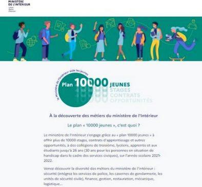 15 03 2021 PLAN DIX MILLE JEUNES MINISTERE INTERIEUR