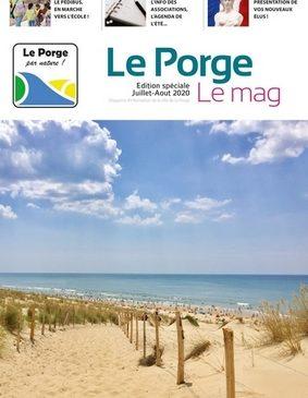 6 07 2020 LE PORGE MAG ETE juillet aout 2020 MAIRIE LE PORGE