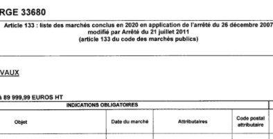 2020 MAIRIE LE PORGE MARCHES PUBLICS
