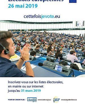 AFFICHE ELECTIONS EUROPEENNES 26 05 2019 LE PORGE