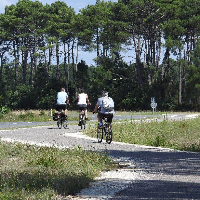 pistes cyclables ville le porge