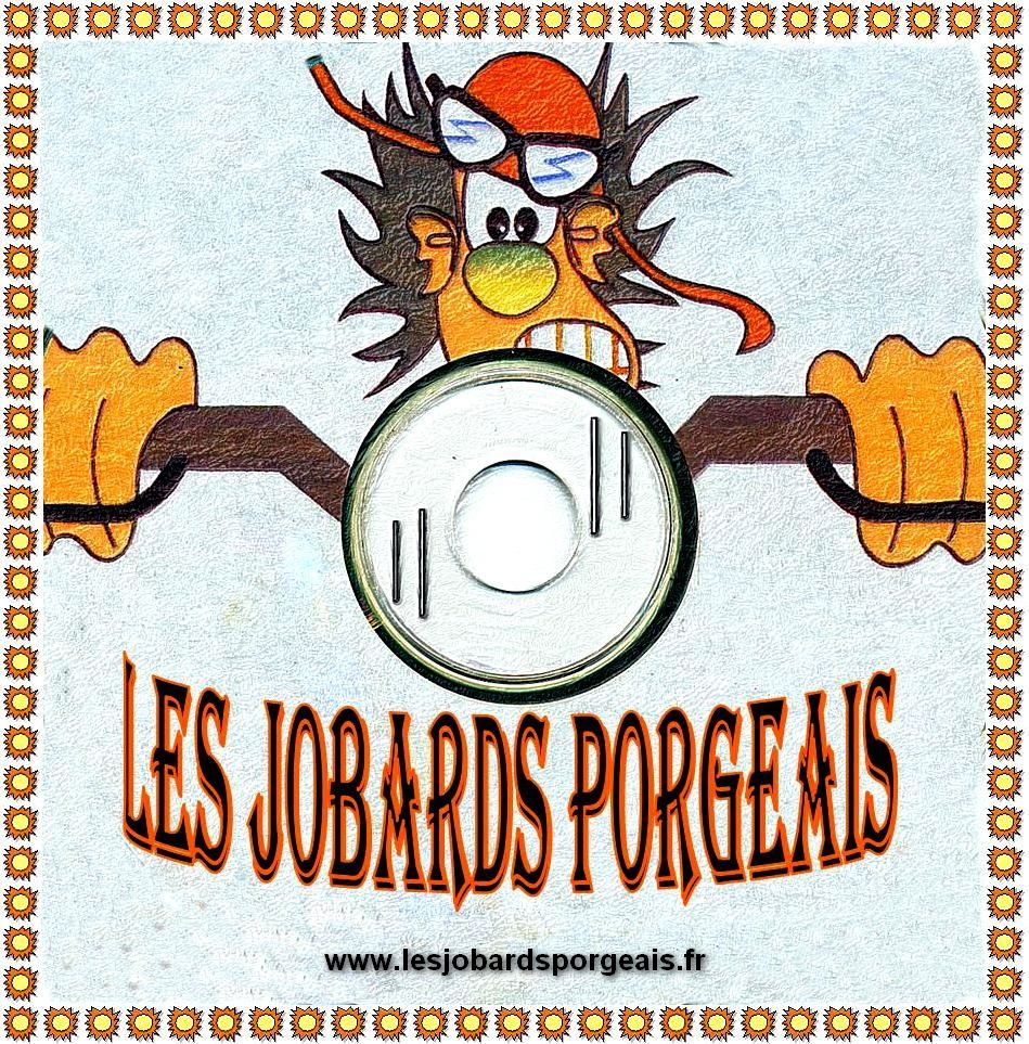 LES JOBARDS PORGEAIS CLUB MOTOS ROUTE LE PORGE LOGO