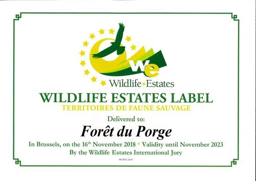 Mairie Le Porge Label Territoires de Faune Sauvage 20 12 2018 Forêt du Porge