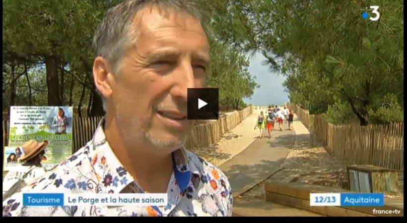 LE GRESSIER LE PORGE OCEAN PLAN PLAGE 2018 07 13 MARTIAL ZANINETTI MAIRE LE PORGE