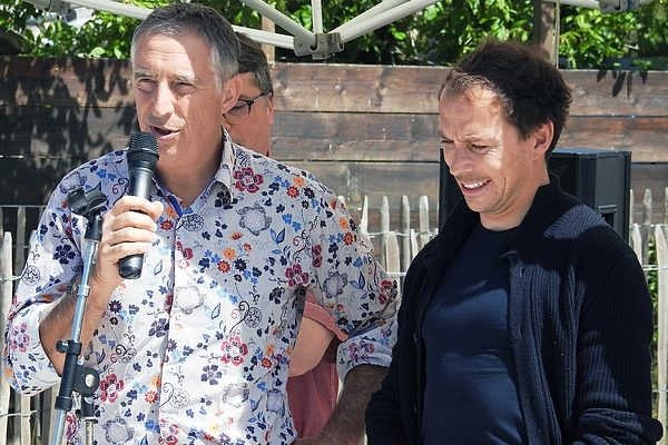22 06 2019 THIBAULT CAUVIN MARTIAL ZANINETTI PLAGE LE PORGE OCEAN SITE LE GRESSIER ZERO DECHET 2019