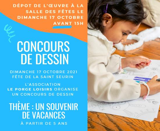 2021 ENFANTS CONCOURS DESSINS SAINT SEURIN LE PORGE