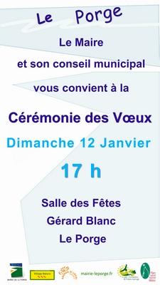 12 01 2020 LE PORGE CEREMONIE VOEUX DU MAIRE