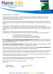 04 06 2020 Mairie Info Le Porge Sophie BRANA Maire