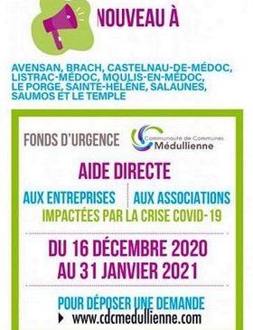 16 12 2020 31 01 2021 AIDE DIRECTE ENTREPRISES ASSOCIATIONS CDC MEDULLIENNE LE PORGE