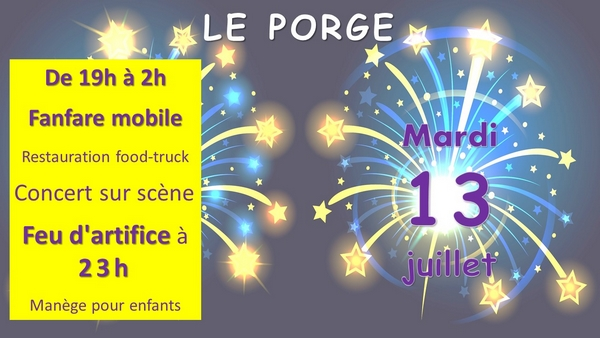 13 juillet 2021 le porge soiree festive concert feu artifice 14 juillet web