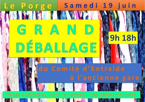 19 06 2021 GRAND DEBALLAGE COMITE ENTRAIDE LE PORGE