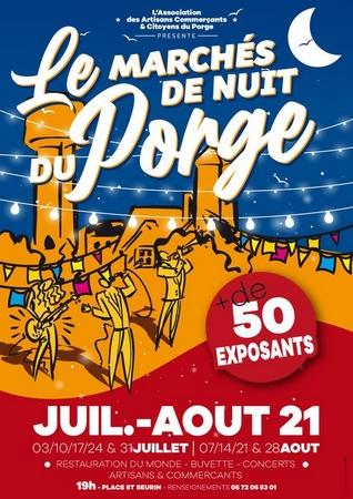 2021 07 08 A Le Porge juillet août marchés nocturnes